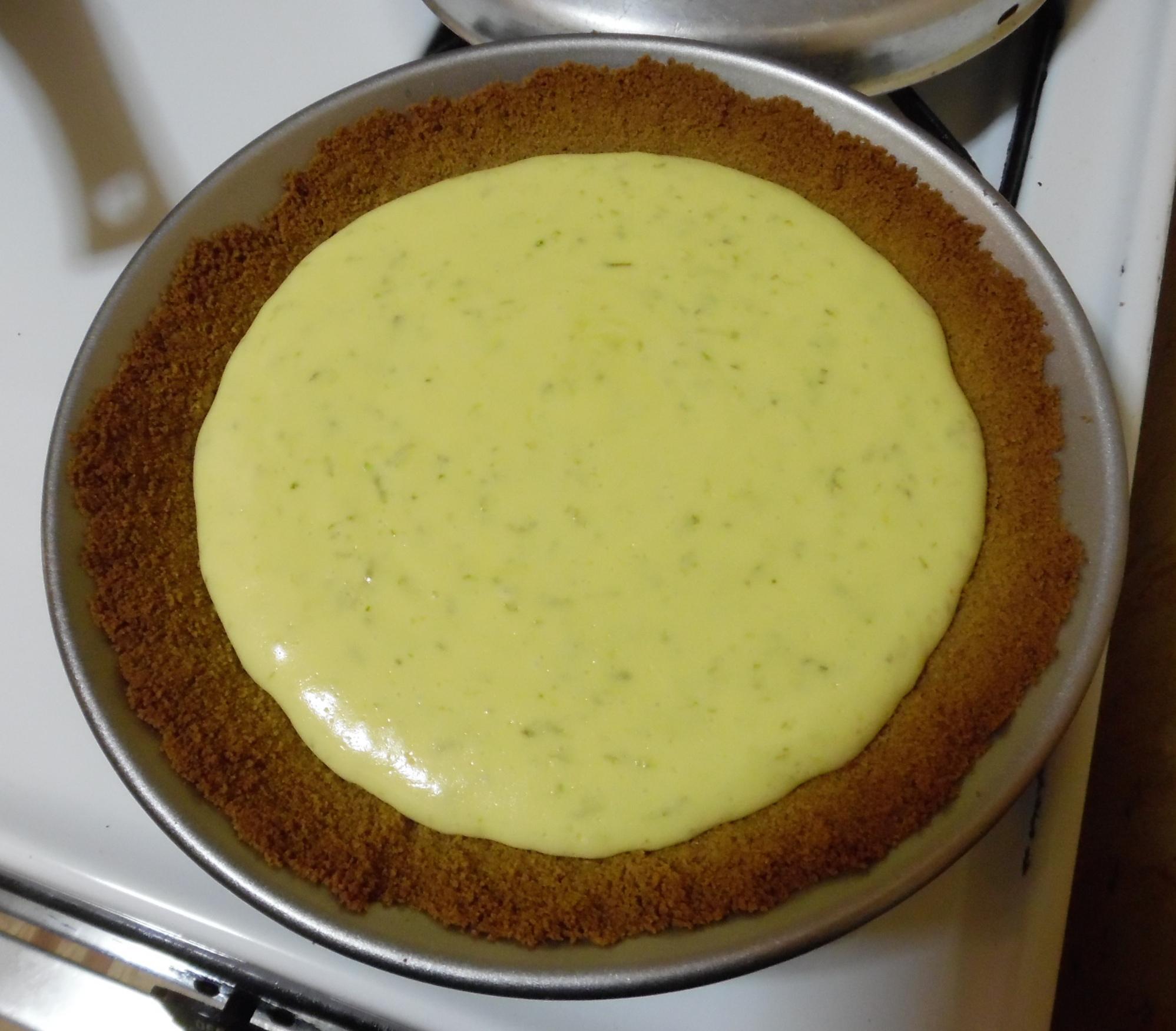 Filling after baking.